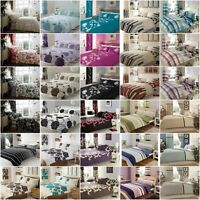 Duvet/Quilt Cover Bedding Set with Matching PillowCase Single Double King S.King