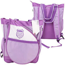 K-Swiss Ibiza Tote Backpack Tennis Bag w Removable Racket Racquet Holder Purple