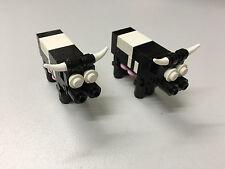 Lego 2x Kühe Kuh cow Tiere Tier animals Bauernhof Lego City Stadt Town Eigenbau