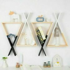 Nordic Style Kid Baby Wooden Triangle Storage Book Shelf For Home Bedroom Decor