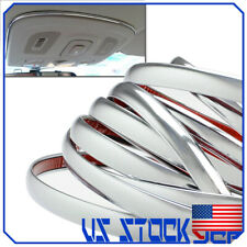 6M 10mm Car Bumper Strip Adhesive Bright Silver Chrome Moulding Trim Sticker