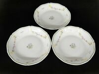 Denby Garland Crown Lot 3 Soup Bowls Floral Swags Scalloped Edge Limoges France