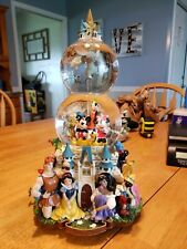 "Disney Magical Gathering Snow Globe ""A Dream Is A Wish Your Heart Makes"" Mint"