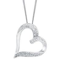 Pave 0,50 Cts Runde Brilliant Cut Diamanten Herz Anhänger In 585 Feines 14K Gold