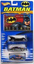 2003 Hot Wheels Batman Action Guide & 3 Car Exclusive Set