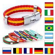 Pulsera trenzada con los colores de las selecciones de fútbol, bandera españa