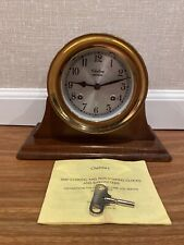 Vintage Antique Chelsea Shipstrike Mantel Clock With Stand And Original Manual