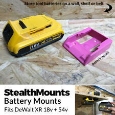5x PINK Battery Mounts for DeWalt 18v XR 54v FlexVolt Li Ion Batteries Holder