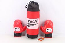 Kids Childrens Sport Boxing Punch Bag And Gloves Hanging Boxing Play Set