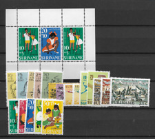 1967 MNH Suriname year collection
