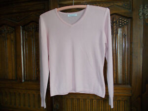 Bianco Blu pink cashmere jumper with silk size  S size 8-10 good condition