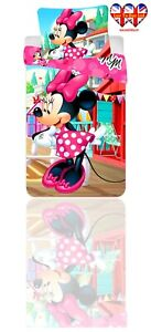 KidsDuvet Set,Disney Minnie Mouse TODDLER Bed Duvet Cover Set,Official Licensed