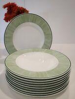 """Set of 10 VILLEROY & BOCH FLORA 10-5/8"""" DINNER PLATES 1748 GREEN Grass"""