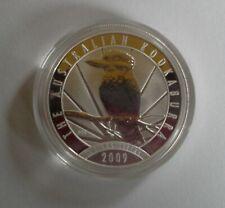 1oz Australian .999 2009 SILVER Kookaburra $1 BU bullion coin in capsule.