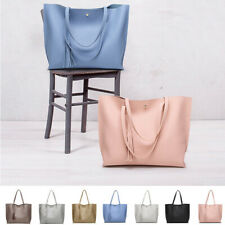 Tote Bag Women'sCasual Leather Shoulder Bag Tassel Shoulder Bags Large Capacity