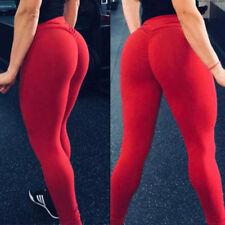 Hot Women Butt Lift Pants High Waist Yoga Compression Leggings Scrunch Trousers