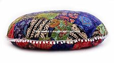 Large Floor Pillow Cover Indian Patchwork Round Cushion Covers Ottoman Tapestry
