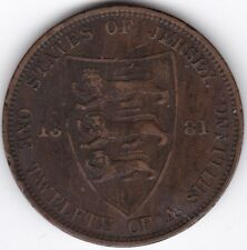 More details for 1881 jersey 1/12 shilling   bronze   coins   pennies2pounds