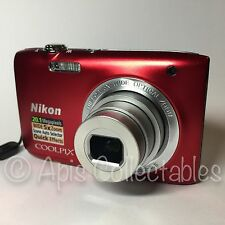 ⭐️ NIKON Coolpix S2800 20.1MP Digital CAMERA in Red. MINTY FRESH CONDITION ⭐️