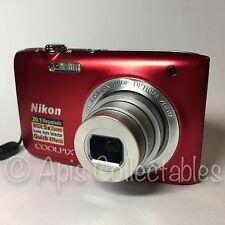 ⭐ NIKON Coolpix S2800 20.1MP appareil photo numérique en rouge. minty fresh état ⭐