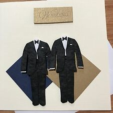 Gay Wedding Card - Two Grooms - Gold - handmade me here in Melbourne