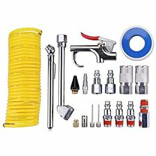 "Air Fittings Compressor Accessory Kit, 1/4"" NPT Tool W/1/4""x25Ft Coil Nylon Hose"