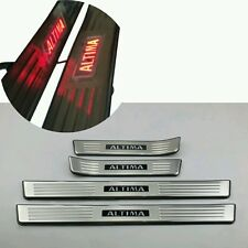 LED Red Light 4 Door Stainless Door Sill Scuff Plate for Nissan Altima 2013-2015