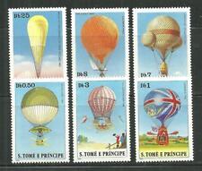 ST THOMAS AND PRINCE 555-60 MNH HOT AIR BALLOONS SCV 9.25