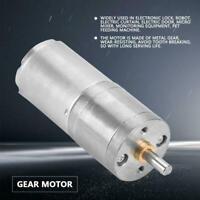 DC12V 25mm 5-1000RPM Gear Motor 25GA-370 Low Speed Metal Gear Motor DIY