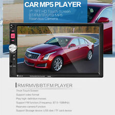 """Bluetooth 2 Din 7"""" Car Audio Stereo MP5 Player FM GPS Rearview Camera"""