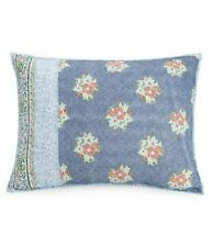 Jessica Simpson Talca Standard Pillow Sham Quilted Cotton Floral Blue White Nwt