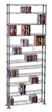 Atlantic Maxsteel 12 Tier Multimedia Rack For 864 CDs/450 DVDs & Blu-Ray/Silver