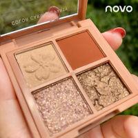 4 Colors Shine Eyeshadow Makeup Kit Shimmer Glitter Eye Shadow Powder Palette###