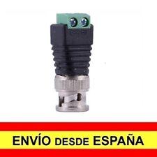 Adaptador CCTV Macho BNC COAXIAL TIPO RF a Enchufe Rapido con Tornillos a4086
