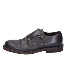 scarpe uomo ROBERTO BOTTICELLI 41 classiche T. moro pelle  BY584-41