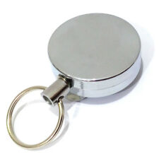 1 x RETRACTABLE KEY REEL HEAVY DUTY IRON CHROME- SUPER VALUE