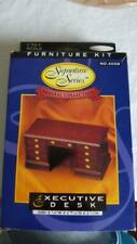 HOUSEWORKS DOLLHOUSE FURNITURE KIT EXECUTIVE DESK,NEW,#4008,SIGNATURE SERIES