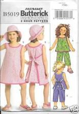 B5019 CHILDRENS/GIRLS  TOPS,DRESSES PANTS SIZE 2-5 NEW BUTTERICK  PATTERN 5019