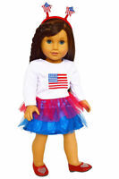 Patriotic Outfit fits American Girl Dolls- 18 Inch Doll Clothes