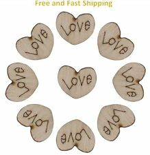 20pcs Wooden Love Hearts Ideal for Scrapbooking Craft Projects DIY Decorations