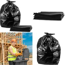 50 Heavy Duty Large 55-Gallon Contractor Yard Waste Trash Bags +Ties 1.5 Mil USA