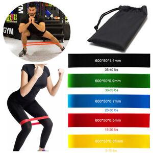 5 Ebene Widerstandsbänder Loop Power Gym Fitness Übung Yoga Workout Pilates