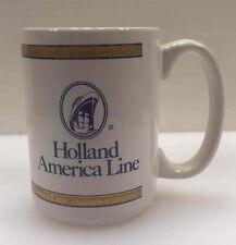 HOLLAND AMERICA LINE White Ceramic Coffee Mug Tea Cup ms ZUIDERDAM Cruise Ship