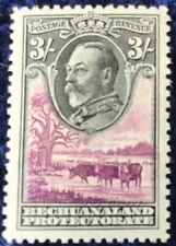 Bechuanaland George V 3/- Black & Purple Definitive SG108 Mounted Mint.