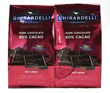 Ghirardelli Chocolate Squares, Dark Chocolate, 60% Cacao, 5.25 oz., (Pack of 2)