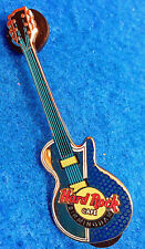 BIRMINGHAM UK POLISHED SILVER & BLUE GIBSON LES PAUL GUITAR Hard Rock Cafe PIN