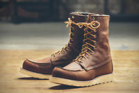 "NIB FS Red Wing Heritage 8"" Moc Toe Boot 8830 Copper Rough & Tough US Mens 9.5D"
