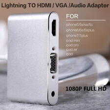 For Apple 8Pin Lightning to HDMI VGA Cable Digital AV Adapter iPhone 6s/7/7 plus