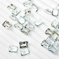 Wholesale Lot of 8x6mm Emerald Cut Natural Aquamarine Loose Calibrated Gemstone