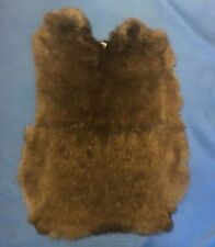 Rabbit Pelt - Genuine Leather Fur - Dark Brown